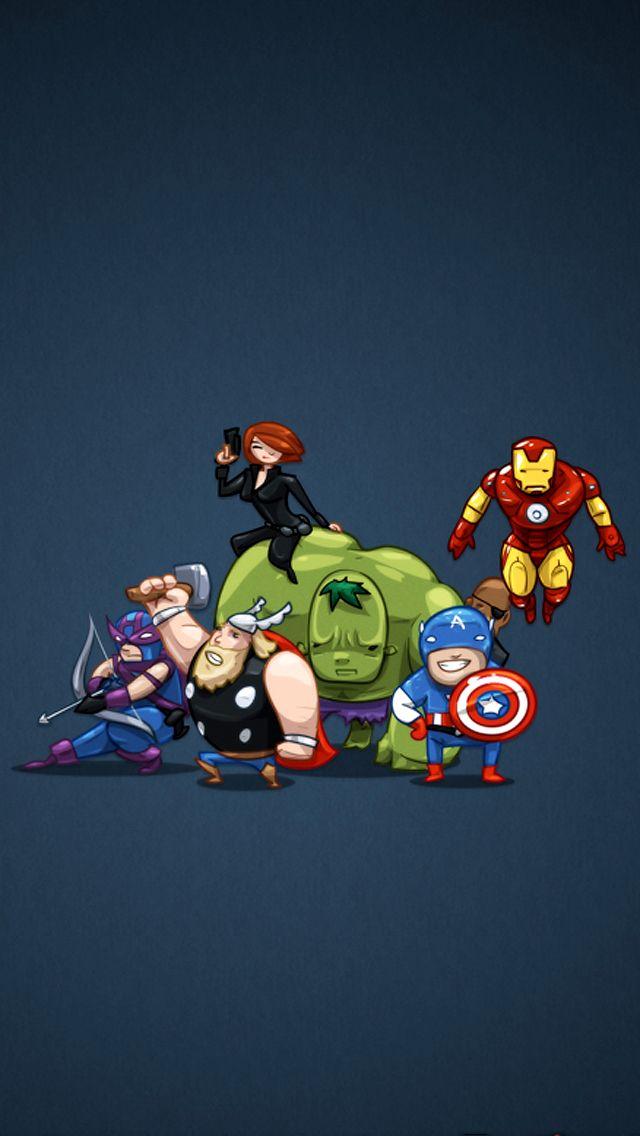 Avengers cartoon Phone Wallpapers Pinterest Cartoon
