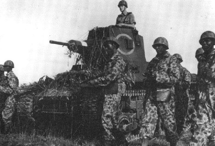 Dutch KNIL CTLS-4A in postwar fighting against Indonesian insurgents