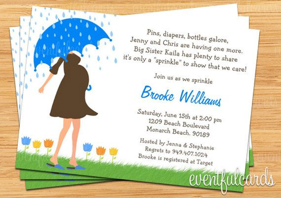 Baby Sprinkle Shower Invitation for Boy (Also Available in Girl). $15.99, via Etsy.