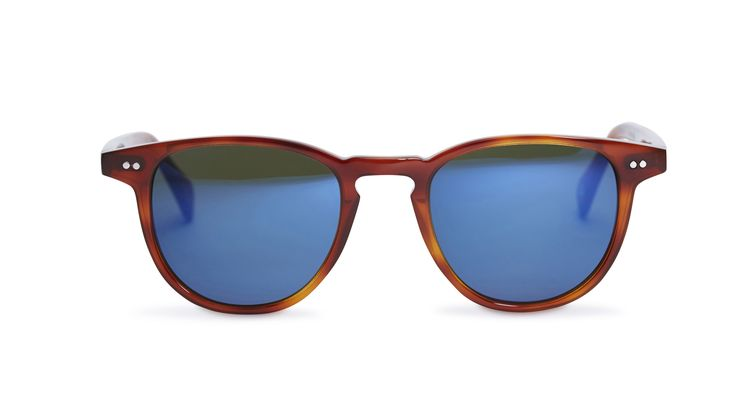 Campbell - Whiskey Havana / Green Lens with Midnight Blue Mirror from Pacifico Optical