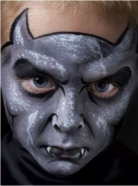 Spooky Gargoyle - Kids Face Painting - Easy Face Painting Designs for Kids - Parenting.com