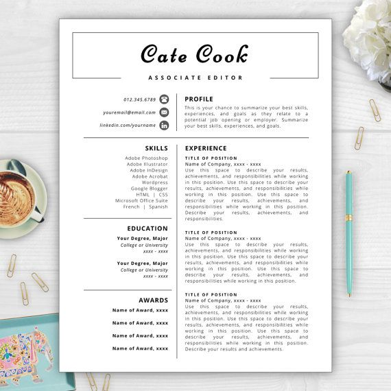 9 best monogram resume templates images on pinterest