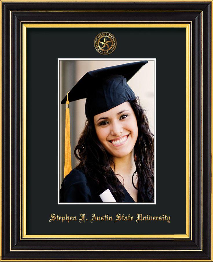 Stephen F Austin State 5 x 7 Satin Black photo frame w/black mat. – Professional Framing Company