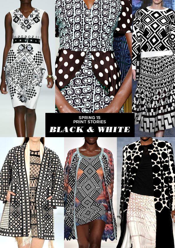 Black & White - Runway   SS15 Print Stories