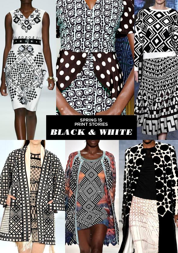 Black & White - Runway | SS15 Print Stories