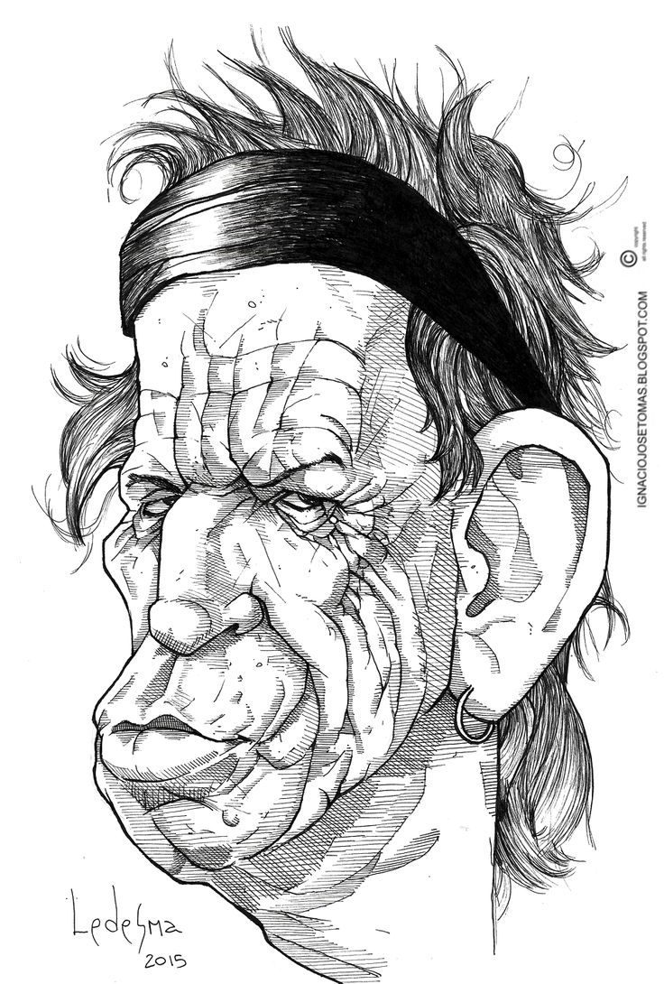 Keith Richards, tinta sobre papel, 2015.