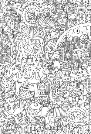 Relax With These 168 Free, Printable Coloring Pages for Adults: Coloring Pages for Adults at Coloring for Kids