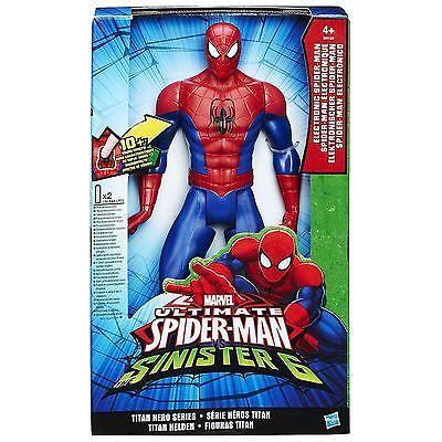 Ultimate Spiderman V Sinister 6 Titan Hero World Slinging SpiderMan Electronic