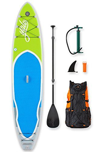 YOLO Board Inflatable Stand Up Paddle Board Adventure Kit - Lime 12' - 3pc Adjustable Paddle and Sup Accessories Backpack * Find out more about the great product at the image link.
