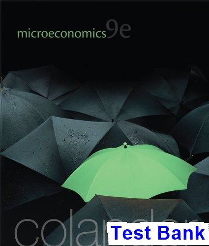 Microeconomics 9th Edition Colander Test Bank | TestBank
