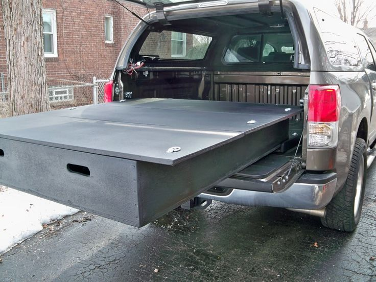 pictures diy bed storage system for my truck diy garage pinterest toyota tundra forum. Black Bedroom Furniture Sets. Home Design Ideas