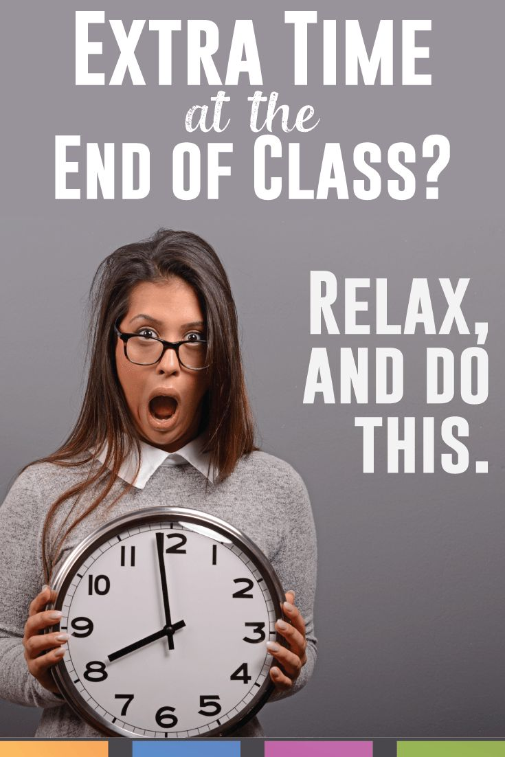 Lesson plan run short? Don't stress - follow one of these twenty ideas to make it to the bell.