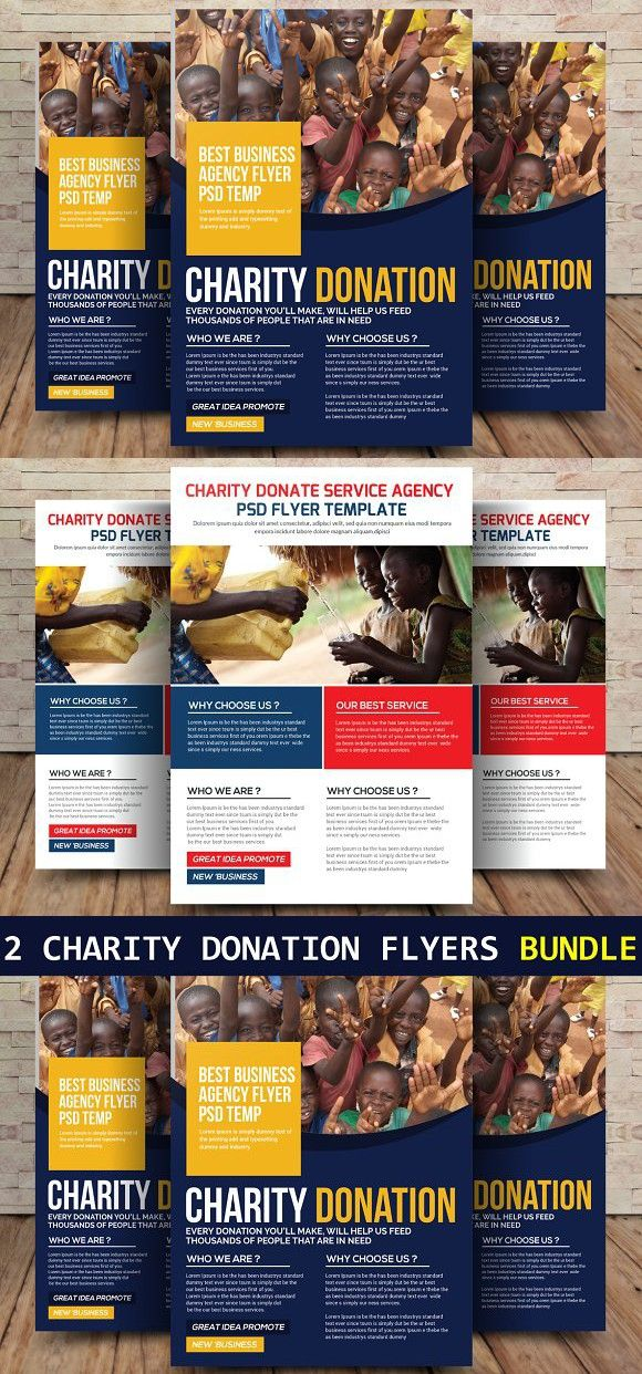 2 charity donation flyers bundle a4 flyer designer pinterest