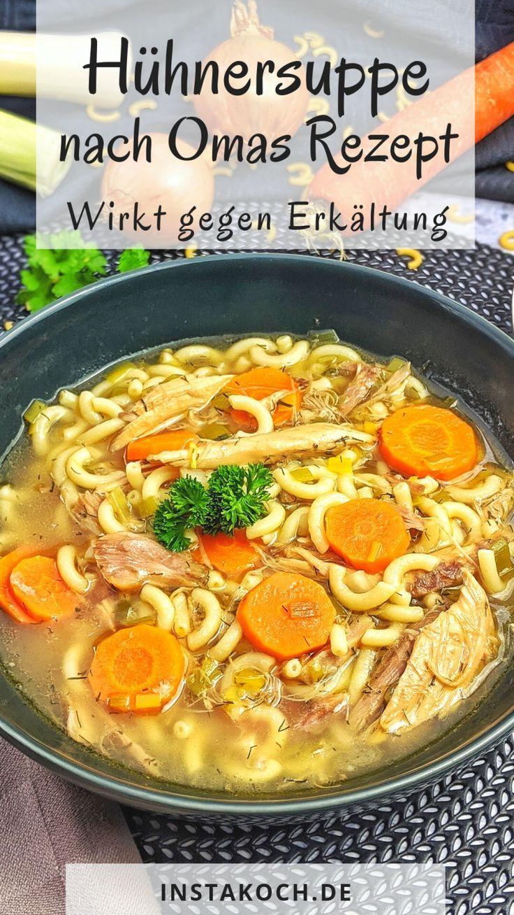 Klassische Hühnersuppe – Rezept – Instakoch.de