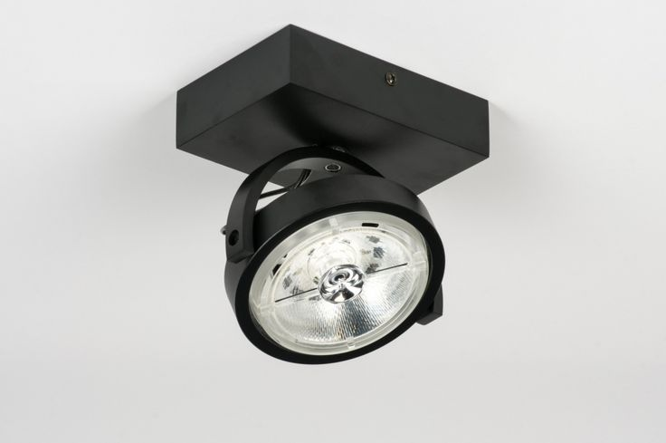 plafondlamp 30539: modern, design, aluminium, zwart