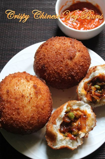 YUMMY TUMMY: Crispy Chinese Vegetable Buns Recipe - Fried Vegetable Buns Recipe