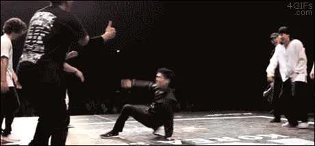 Break-dancing exit strategy