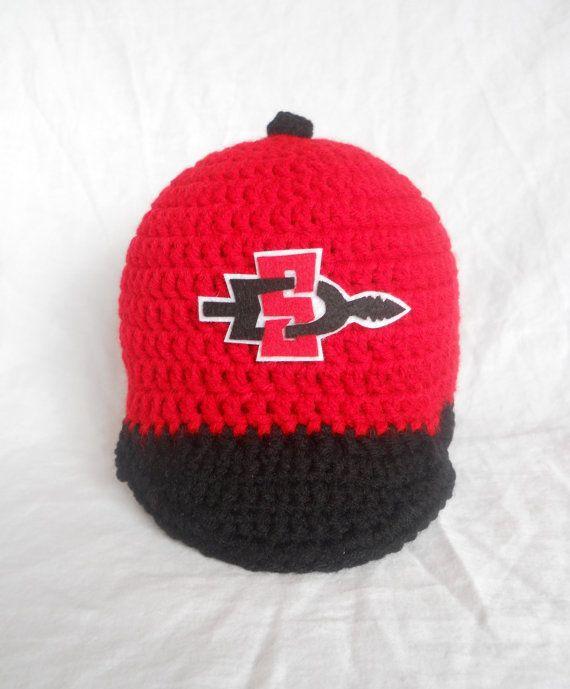 San Diego State University Aztecs Inspired Crochet by CDBSTUDIO, $29.99