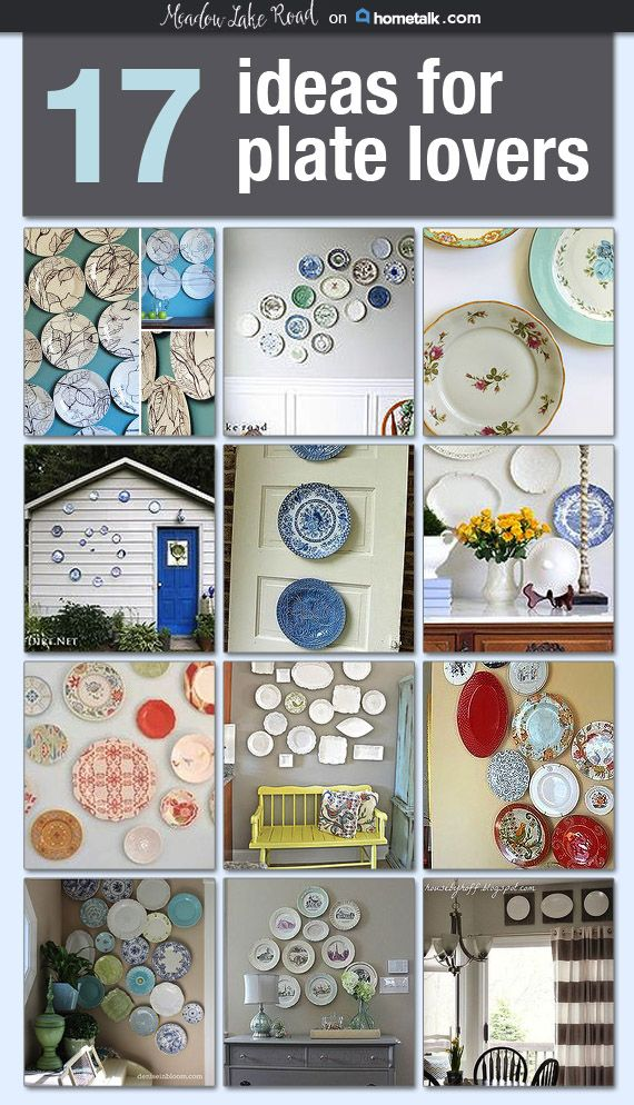 DIY Hanging Plate Wall Designs With Fine China, Fancy Plates... | Thrift,  Decorating And Random