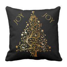 """Custom Christmas JOY Pillow, 16"""" x 16"""" Throw Pillow"""