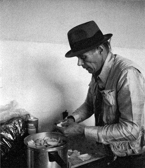 Joseph Beuys cooking stew in his Düsseldorf studio 1984  Photo: Lucrezia De Domizio Durini