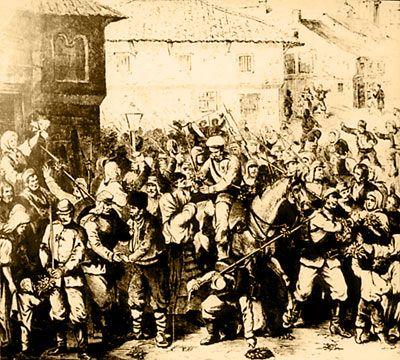 Посрещане на руските войски в Търново