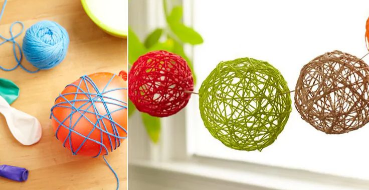 A yarn ball garland is sure to dress up your space for your next get-together.