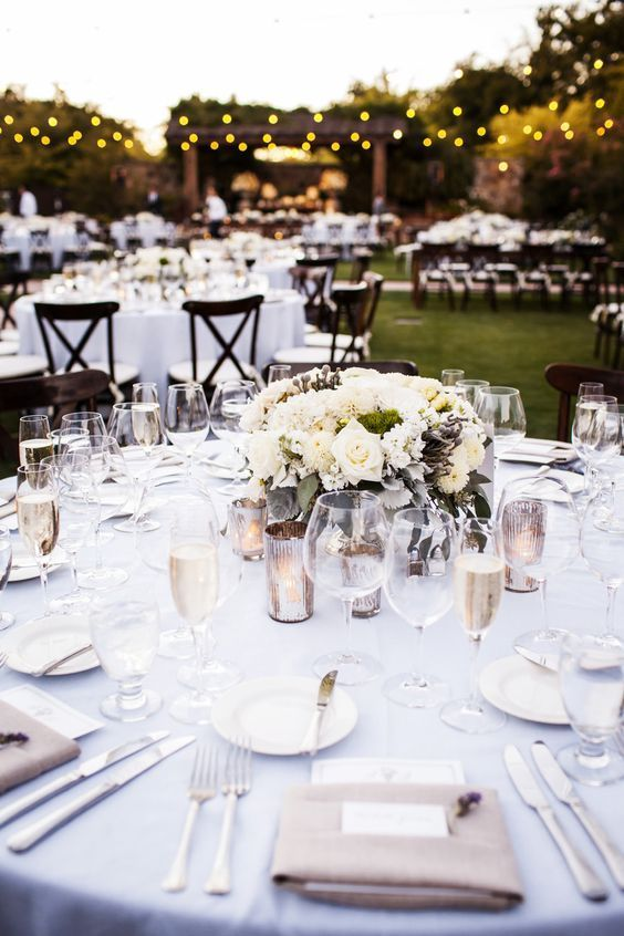 630 best outdoor wedding reception images on pinterest dinner 60 simple elegant all white wedding color ideas workwithnaturefo