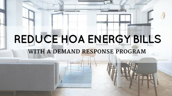 A HOA demand response program reduces electric usage during peak usage hours, which lowers the demand on the electrical grid while lowering your electric bill.