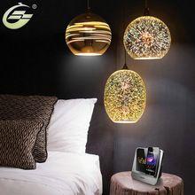 3D Glass Pendant Lights E27 Light Bulb Lighting Fixture for Art Decoration Living Room Kids Bed Room Hotel Restaurant kitchen(China)