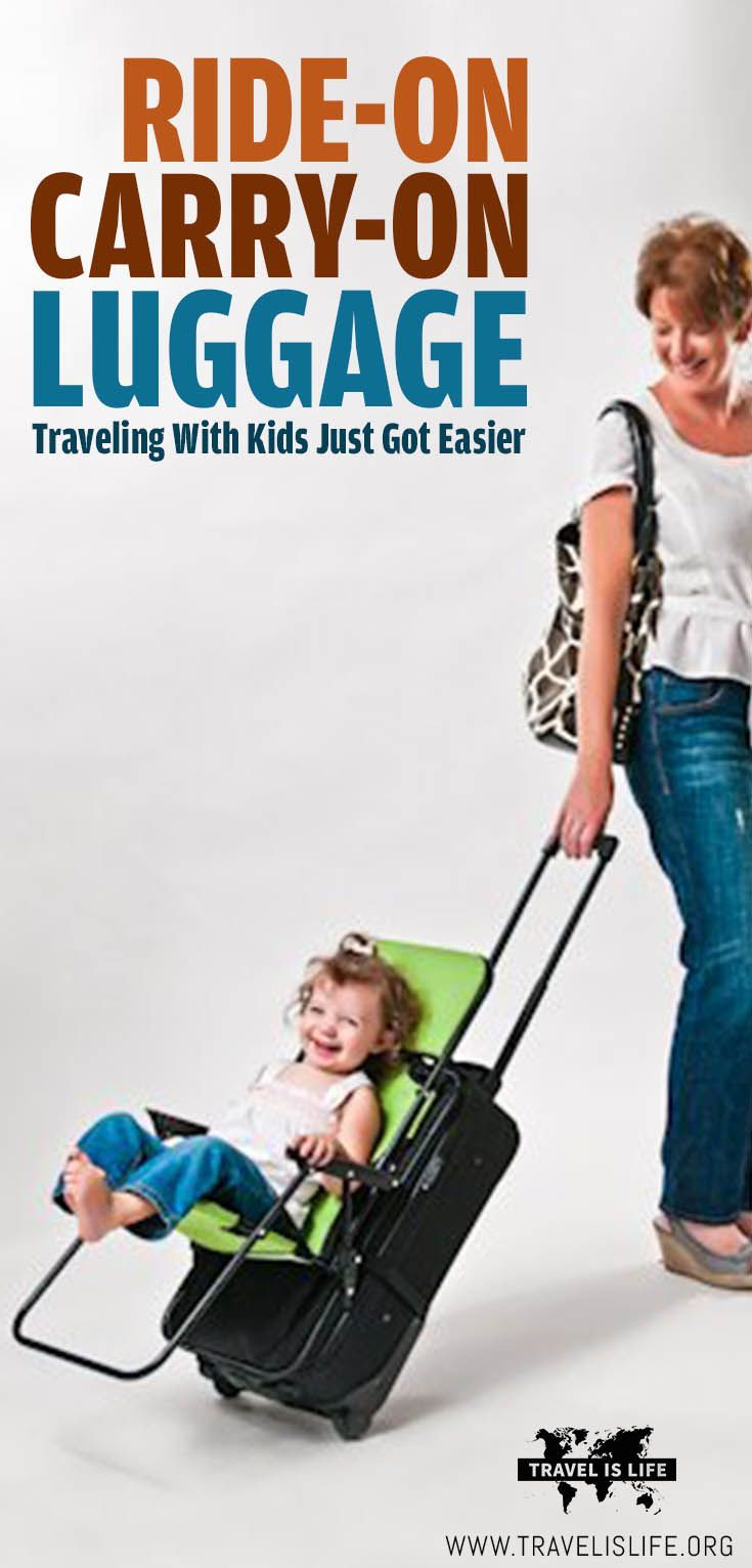 Kids get tired of walking at airports, but meanwhile you've got your hands full. This lightweight child seat attaches to your carry-on luggage to help you effortlessly transport your child through airports… and the kids love it! Afterwards it folds up fla