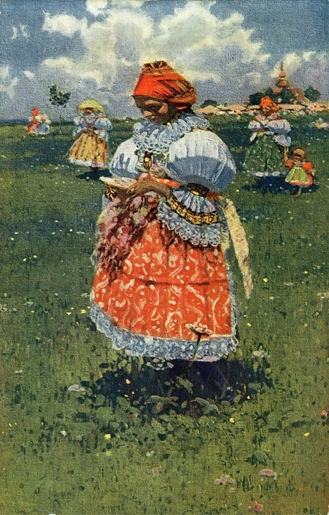 "Joža Uprka Tasovjanka (""A girl from Tasov"")"