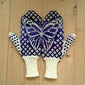 Ravelry: Butterfly Wish Mittens pattern by Emily Bujold