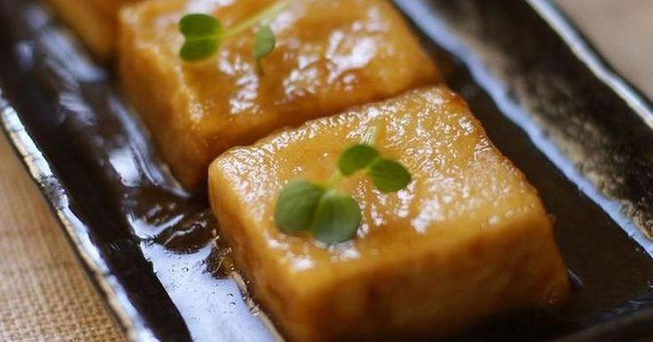 高野豆腐の揚げ煮です!つるっとした食感がたまらなぁ~い!ぜひお試し下さい☆2007/10/27話題入り☆ありがとう♪