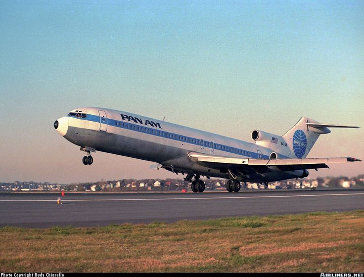 """Clipper Quick Step"" - A sight I really miss. A Pan Am 727 departs into the Boston sunset."