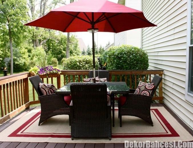 Çok Şık Balkon ve Bahçe Şemsiye Tasarımları