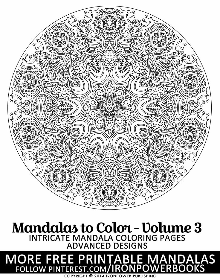 627 best Mandalas to Color images on Pinterest Printable