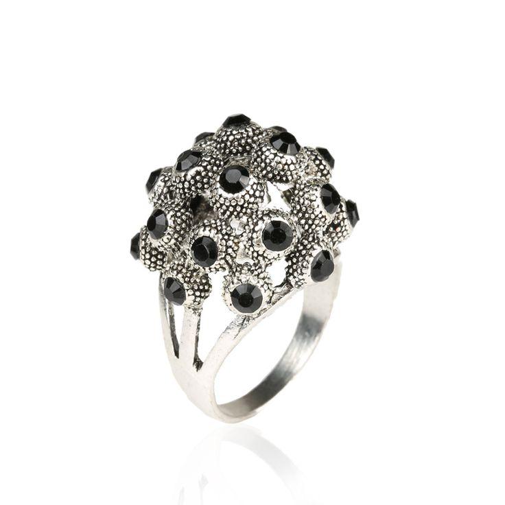 2015 Popular Summer Life Rich Black os Aneis de Casamento Gap Fashion Natural Dragons 925 Sterling Silver Skull Ring Female