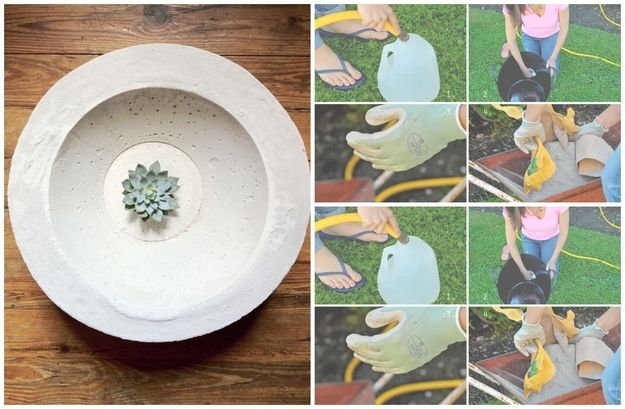 Cement Bowl   22 Seriously Cool Cement Projects You Can Make At Home