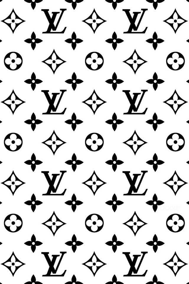 Black & White Louis Vuitton iPhone wallpaper Louis
