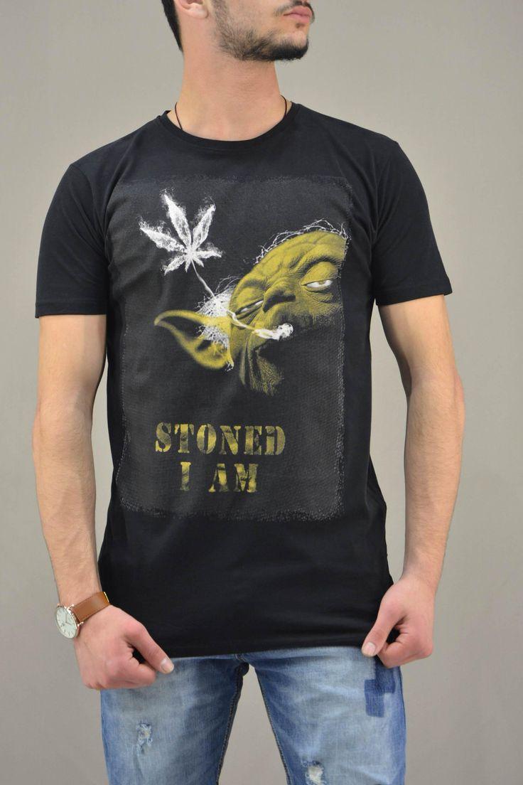 Aνδρικό t-shirt Star Wars Υoda Stoned | Άνδρας -