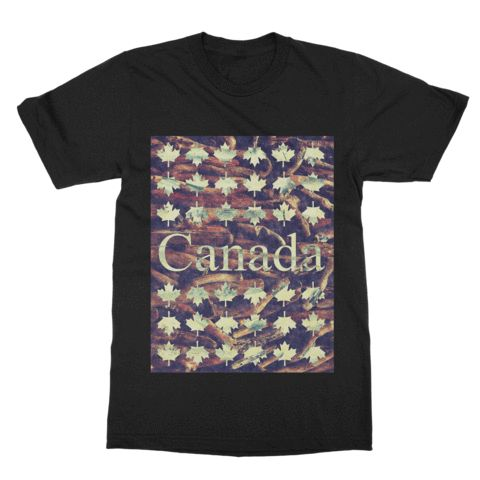 Show your Canadian pride with the Rustic Canada Graphic Tee. #premotive #graphictee #canada