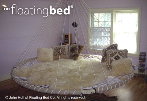 Round Bed, Hanging Daybed, Indoor Hammock Bed | The Floating Bed Co