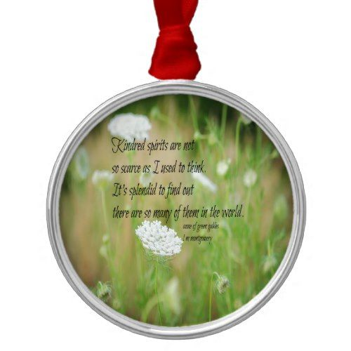 Kindred Spirits Anne Green Gables Metal Ornament