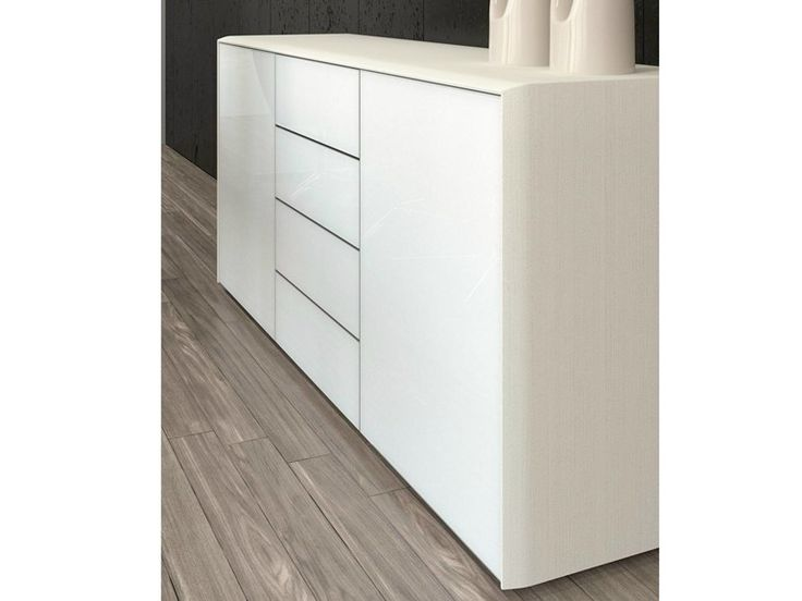 Low Horizontal Filing cabinet with Drawers Fill-HG Collection by Las Mobili
