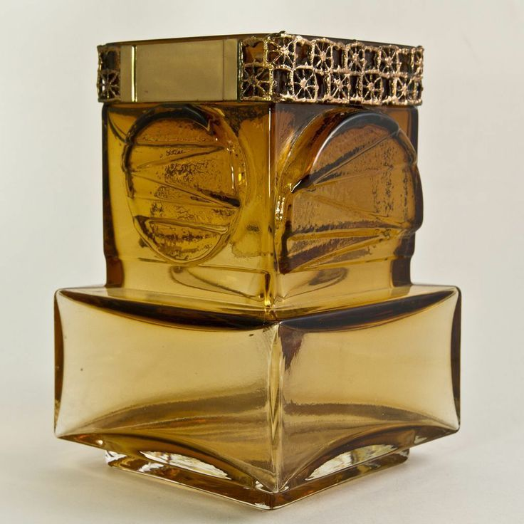Pentti Sarpanevo; Glass and Brass Vase for Riihimaki Kumela Oy, c1970.