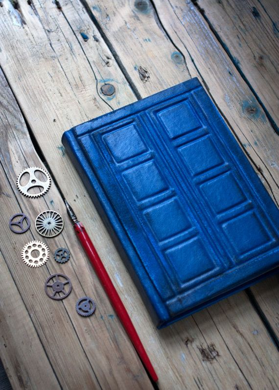 Tardis Leather journal, Doctor Who Leather journal, Doctor Who Inspired,  River Song's Journal,  Notebook, Diary, Travel Journal