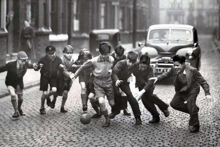 In pictures Everton now and then Street football