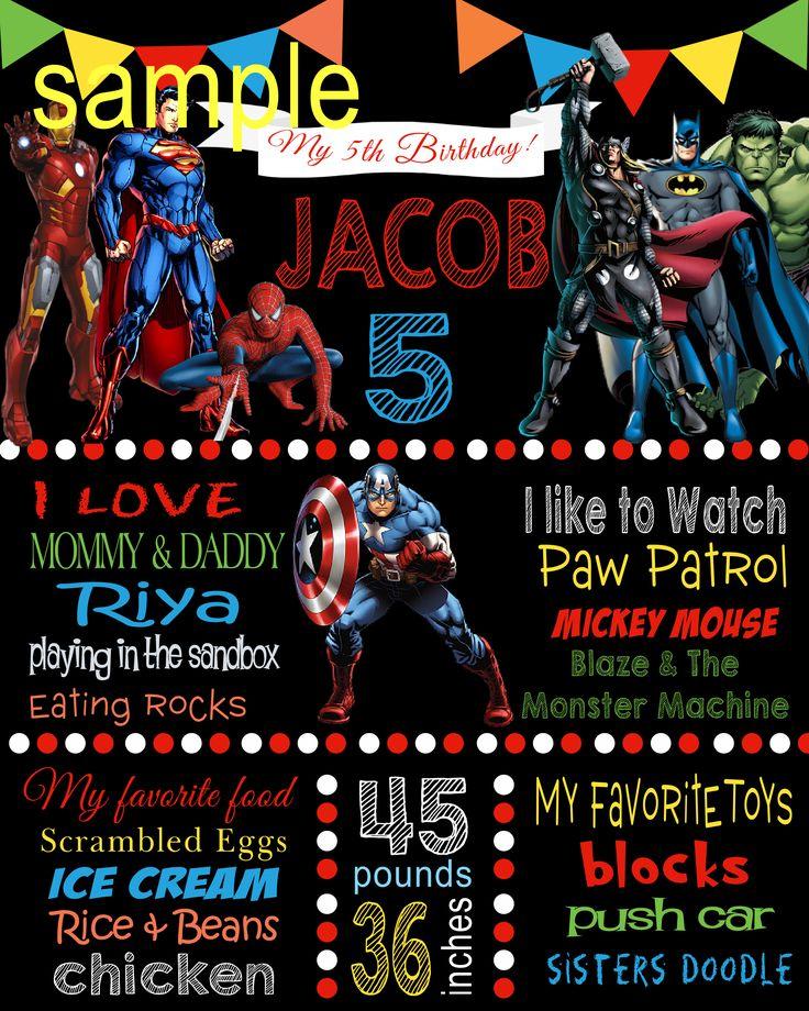 Superhero milestone poster