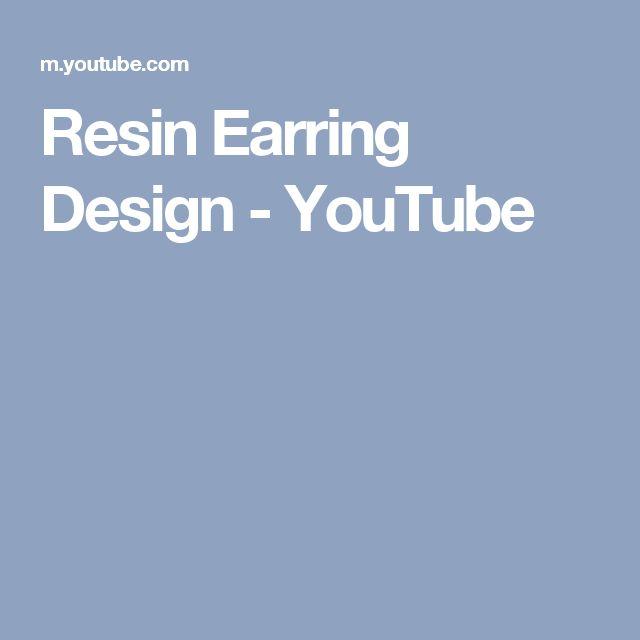 Resin Earring Design - YouTube